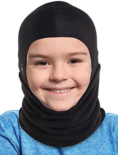 Tough Headwear Kids Balaclava Ski Mask | Childrens Fleece Neck Warmer with Helmet Liner Hood | Fits Under Helmets for Boys Girls Juniors Youth