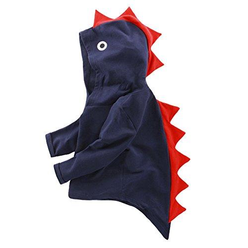 LINGGO Kids' Toddler Spring Autumn Funy Cartoon Stereo Dinosaur Modeling Comfortable Breathe Hoodies Coat 1-8Age (Boys Modeling Garments Little)
