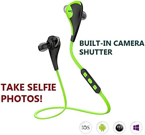 HiQ Bluetooth Headphones with Built-in Camera Shutter Mic