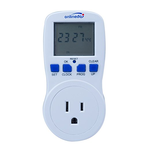 Price comparison product image 15A/1800W 7-Day Programmable Timer Outlet, Plug-in Wall LCD Digital Electrical Timer Switch with 3-prong Outlet, UL Listed