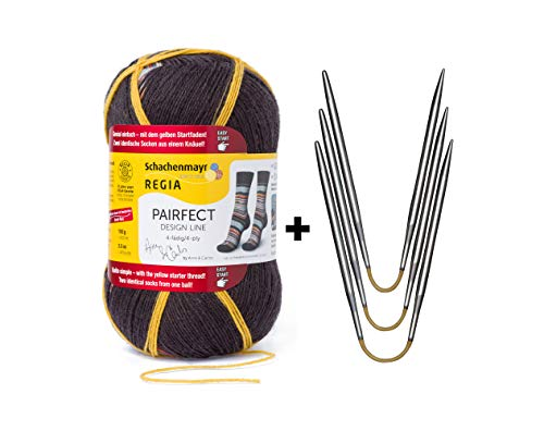 Sock Starter Kit REGIA Pairfect (09135) + addi CraSy Trio Flexi Flips (US1/2.25mm)