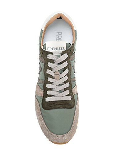 Mens Premiata Eric2814 Sneakers In Pelle Verde