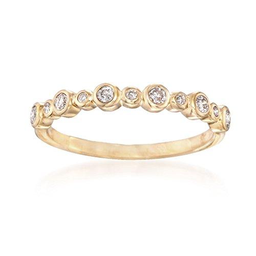 Ross-Simons 0.20 ct. t.w. Bezel-Set Diamond Ring in 14kt Yellow Gold ()