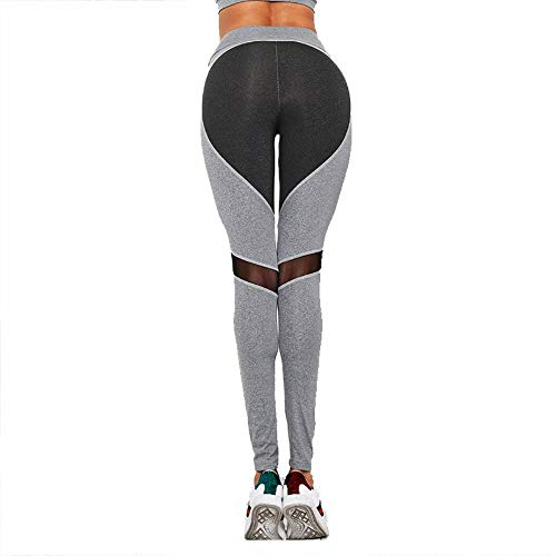 Force Women's Yoga Sports Hanche Ads Haute gray l Collants Pantalons Stretch Mesh Black Minceur Taille Sfdqxw