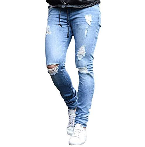 Lannister Fashion Pantalones De Mezclilla Apretados Outer Tret De Otoño Skinny Invierno para Hombres Pantalones De Mezclilla Desgarrados Pantalones Vaqueros Rasgados De Tlich Vintage Alsbild1