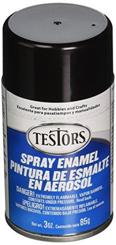 Testors TENAMEL-1247 Aerosol Enamel Paint, 3-Ounce, Gloss Black ()