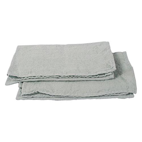 LinenMe Washed Waffle Hand Towels , 20 x 28, Ice Blue