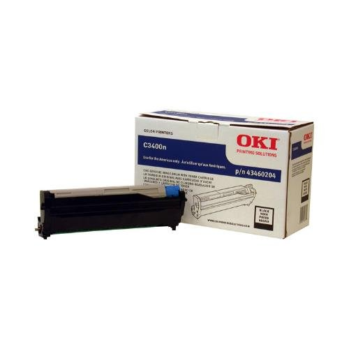 Okidata C3400, C3530 MFP, C3600, MC360 MFP Series Black Image Drum (Ships With 1,000 Yield Toner Cartridge) (15,000 Yield), Part Number - Black 43460204 Okidata Drum