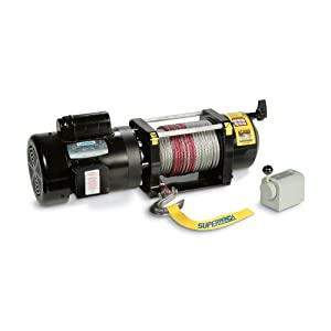 "Superwinch 1730000 AC 3000 115-230VAC, rated line pull 3,000 lb/1363 kg with switch & 100' of 5/16"" wire rope, 60 Hz"