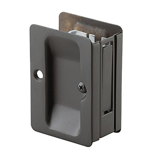 Richelieu Hardware - 1700ORBPSBC - Pocket Door Pull with Passage Handle - Rectangular - Oil-Rubbed Bronze Finish