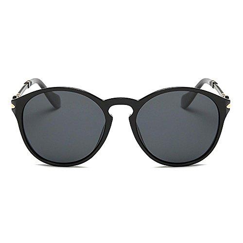 las Peggy clásicas flor coloridas Lady's conducir para Rimmed de de Protección para Sunglasses Marco Negro Rosado Charmful Gafas Color sol de polarized mujeres la sol UV Gafas Viajar Gu BwBCx6