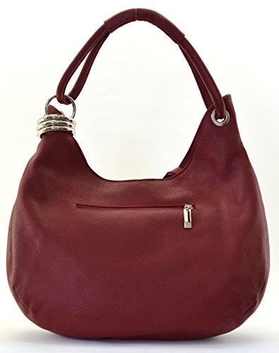 Modèle MY Samoa BAG Fonce à OH Sac femme Rouge Main cuir 6p10U1
