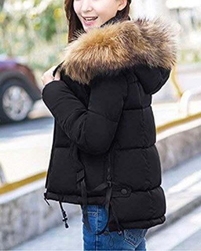 Invierno Viento Mujer Tamaño Para Beige Prueba Outwear De Parka Chaqueta Negro Capucha color A Large Abrigo Con wx00FqYf