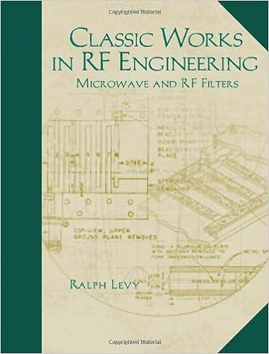 Classic works in rf engineering volume 2 microwave and rf filters classic works in rf engineering volume 2 microwave and rf filters 1st edition fandeluxe Gallery