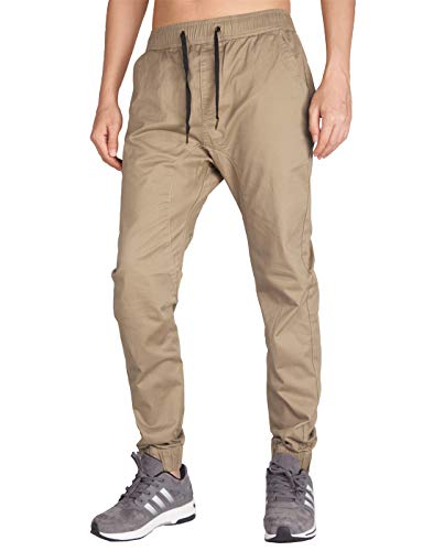 ITALY MORN Men's Chino Jogger Sweatpants Casual Pants M Khaki