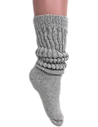 Women's Extra Long Heavy Slouch Cotton Socks Made in USA...