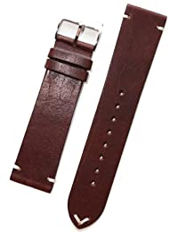 Horween Vintage Style Brown Calfskin Leather with Matching Lining and Hand-Stitching INS-HOR02-0002 (22mm)