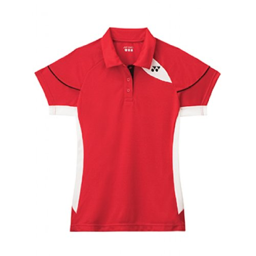 YONEX L2452EX Badminton Ladies Polo, Red, S