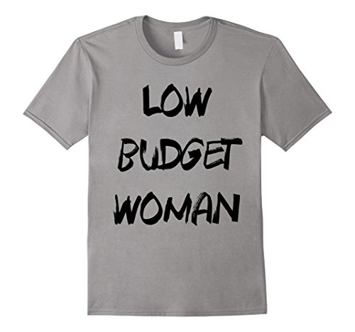 Mens Cheap Halloween Costume Low Budget Woman Funny T-Shirt 2XL (Funny Cheap Halloween Costumes Ideas)