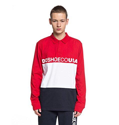 Dc Cotton Polo Shirt (DC Men's Stewardson Polo, Tango Red, XXL)