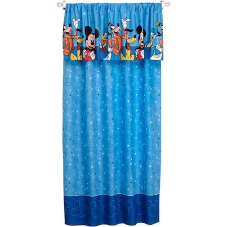 Disney Mickey Mouse Playground Pals Window Panel (Mickey Mouse Curtains)