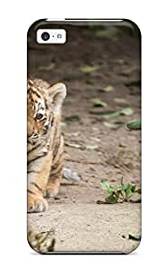 Herbert Mejia's Shop 4067307K23784466 TashaEliseSawyer Scratch-free Phone Case For Iphone 5c- Retail Packaging - Tiger