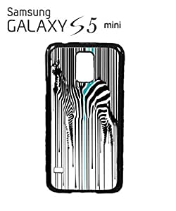 Dripping Zebra Art Animal Barcode Mobile Cell Phone Case Samsung Galaxy S5 Mini White by supermalls