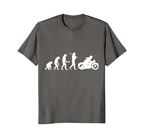 Mens Funny Vintage Motorcycle T-Shirt Evolution Motorbike Rider Large (Bike Evolution T-shirt)