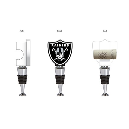 Team Sports America Oakland Raiders Hand-Painted Team Logo Bottle Stopper