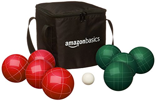 AmazonBasics Bocce Ball Set with Soft Carrying  Case  - - Set Ball 90