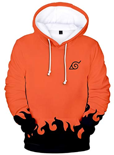Horries Japanese Anime Halloween Cosplay Costume Mens Hoodie Jacket Orange ()