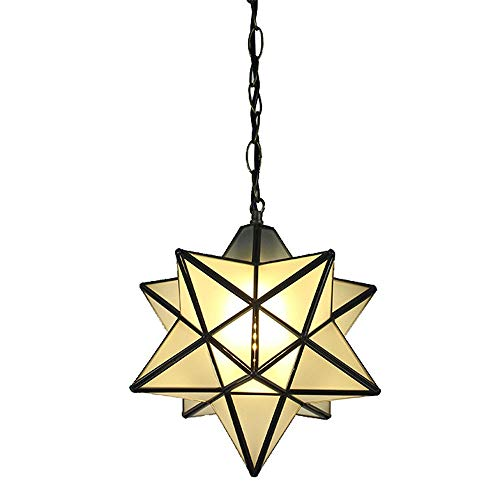 ZSJ Chandelier Unique Five-Pointed Star Creative Ceiling Bedroom Bar American Single Head Chandelier and Adjustable Light Rope ()