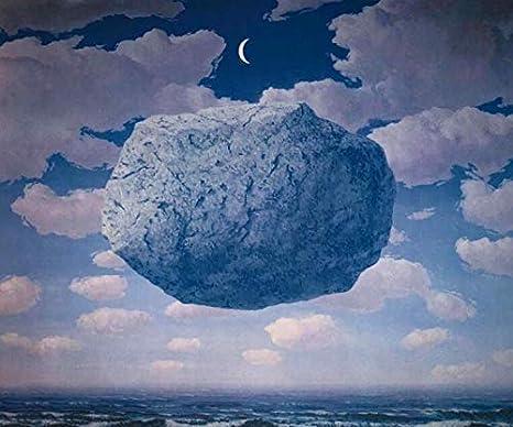 Rene Magritte blue stone in the sky night Surrealismo carteles e impresiones lienzo arte de la pared cuadros abstractos para la sala de estar cuadros decorativos en lienzo sin marco A312 40x60cm