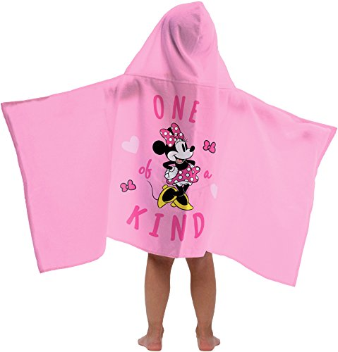 Jay Franco Disney Minnie Mouse One of a Kind Super Soft & Absorbent Kids Hooded Bath/Pool/Beach Towel - Fade Resistant Cotton Terry Towel 22.5