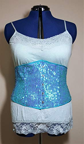 Mermaid Scale Underbust Steel Boned Corset with Front Busk