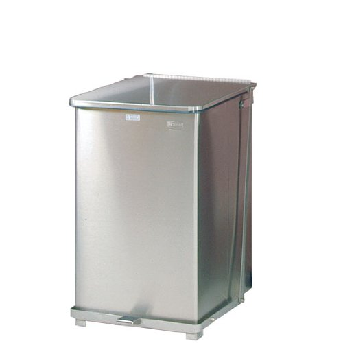 Rubbermaid Commercial Defenders Trash Can, 40 Gallon, Sky White Gloss ()