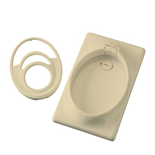 Kichler 370010IV Accessory Single Gang CoolTouch Wall Plate, Ivory (Not Painted) by KICHLER