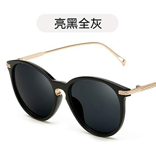 Burenqiq de de Brillante Película de Moda Sol black Sol Color Bright de Mujer Color Tendencia Gafas y Negro Gafas Sol de de de de de Sol de Moda gray all Gafas Hombre Gafas r8fYqr