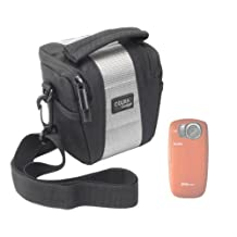 DURAGADGET Stylish Water Resistant Camcorder Case With Extra Space For Your Accessories Compatible With Intova Sport Pro HD Video Camera, Kodak Ze2 Caméscope de poche 5 Mpix Étanche 3m Noir & Midland XTC-260VP3