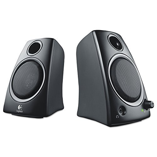 (Logitech Z130 2-Piece 3.5mm Black Compact Computer Multimedia Speaker Set(Renewed))