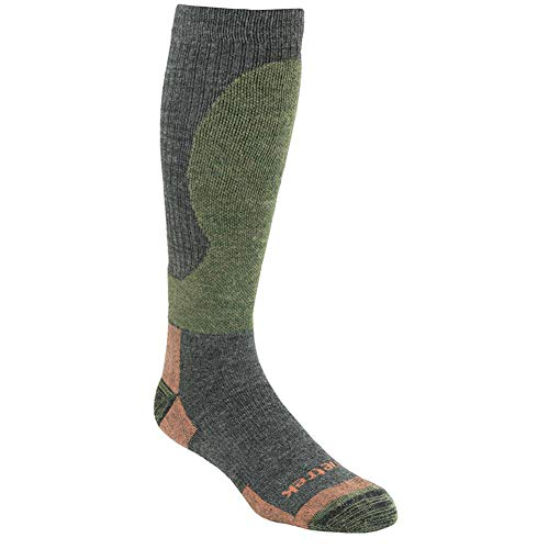 (Kenetrek Canada Midweight Over-The-Calf Hiking Sock, Tan/Green, Large)