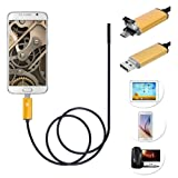 Android Mobile phones Endoscope - TOOGOO(R)Waterproof 7mm 6LED Android Mobile phones Endoscope 10M Gold