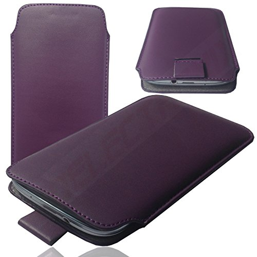 HQ LILA Slim Cover Case Schutz Hülle Pull UP Etui Smartphone Tasche für Apple iPhone X