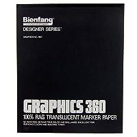Bienfang 316142 Gráficos 360 Almohadilla de 14 por 17 pulgadas de papel de marcador translúcido, 50 hojas