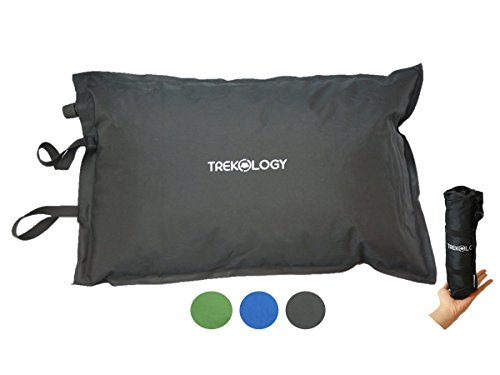 Trekology Self Inflating Camping Pillows - Lightweight, Inflatable, Compressible, Comfortable Air Travel (Rocky Mountain Sleeping Bag)