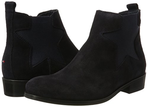 Chelsea Mujer 11b P1285olly Hilfiger midnight Azul Tommy Botas Para xaqP6Z1