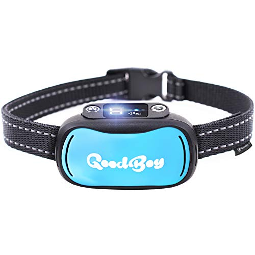 GoodBoy Humane Dog Bark Collar for Small, Medium and Large Breeds - Sound or Vibration Modes Control Unwanted Barking - Rechargeable No Bark Training Device - New 2019 Upgraded Sensor and Chip