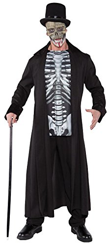 Underwraps Men's Plus-Size Skull Master, Black/Grey/White, XX-Large