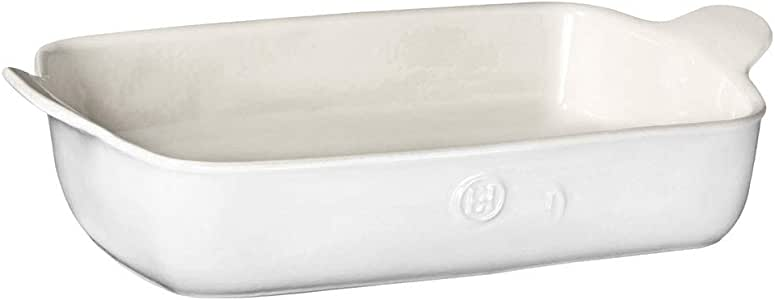 """Emile Henry Made In France HR Modern Classics Large Rectangular Baker, 13 x 9"""", White"""