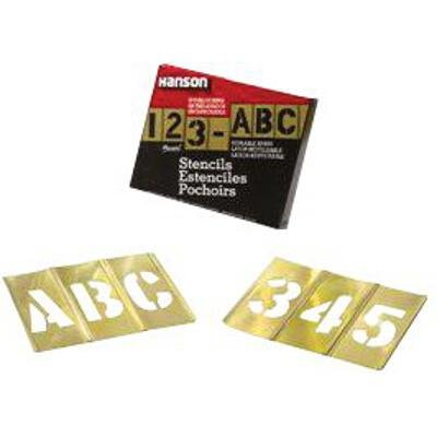 Brass Stencil Letter & Number Sets - 6'' 77pc letter & numberstencil set by C.H. Hanson